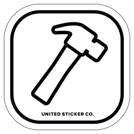 Badge_Icon_Things_Hammer_Vinyl_Sticker