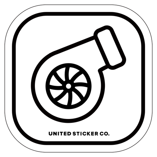 Badge_Icon_Sports & Recreation_Turbocharger [ Turbo ]_Vinyl_Sticker