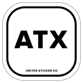 Badge_Lettering_Places_Austin [ ATX ]_Vinyl_Sticker
