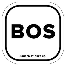 Badge_Lettering_Places_Boston [ BOS ]_Vinyl_Sticker