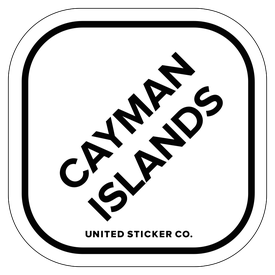 Badge_Lettering_Places_Cayman Islands_Vinyl_Sticker