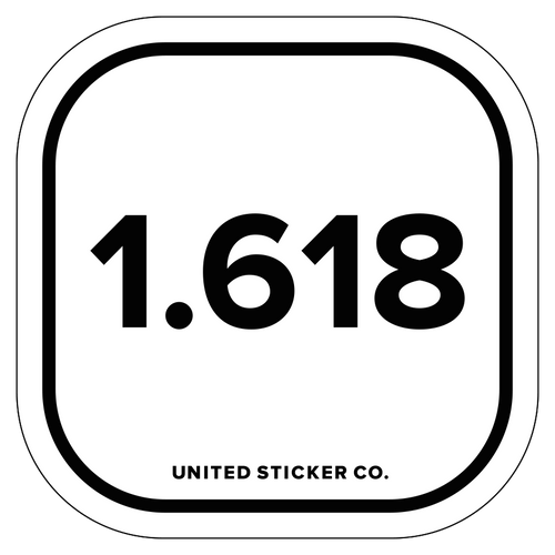 Phi 1.618 Badge Sticker