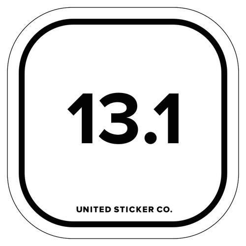 13.1 Half Marathon Running Badge Sticker
