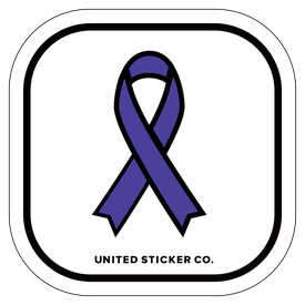 Badge_Icon_Awareness_Violet Purple Ribbon_Vinyl_Sticker
