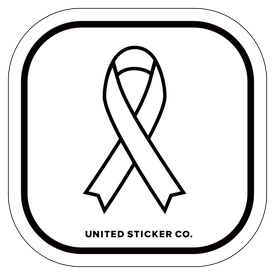 Badge_Icon_Awareness_White Ribbon_Vinyl_Sticker