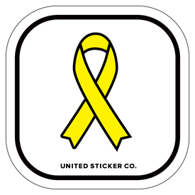 Badge_Icon_Awareness_Yellow Ribbon_Vinyl_Sticker