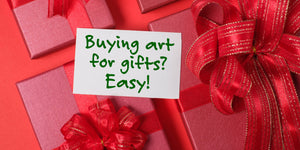 4 Ways to make Buying an Art Gift Easy