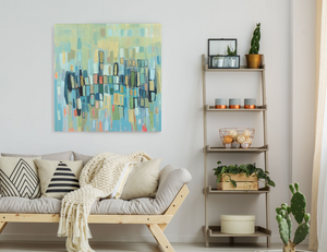 What is the right height to hang an art work?