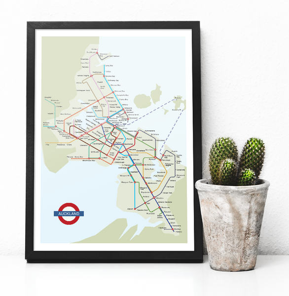 "Auckland Tube - ""In a Parallel Universe"" - Poster Print - MAC - Macandmor"
