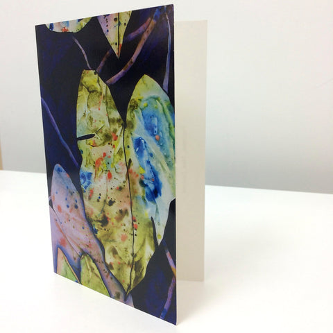 Black Taro Greeting Card - Christie Cramer - Macandmor