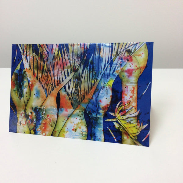 Nikau Dreams Greeting Card - Christie Cramer - Macandmor