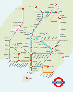 Thinking Big Southland - Tube Map Giclee Print - Macandmor