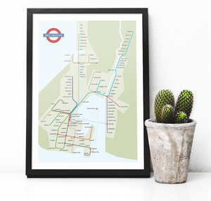 "Wellington Tube - ""There. Finished"" - Poster Print - MAC - Macandmor"