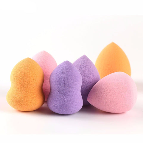 6pcs Soft Sponges Blender Foundation Puff in 2 Shapes