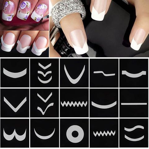 18 Sheets/Set French Manicure DIY Nail Art