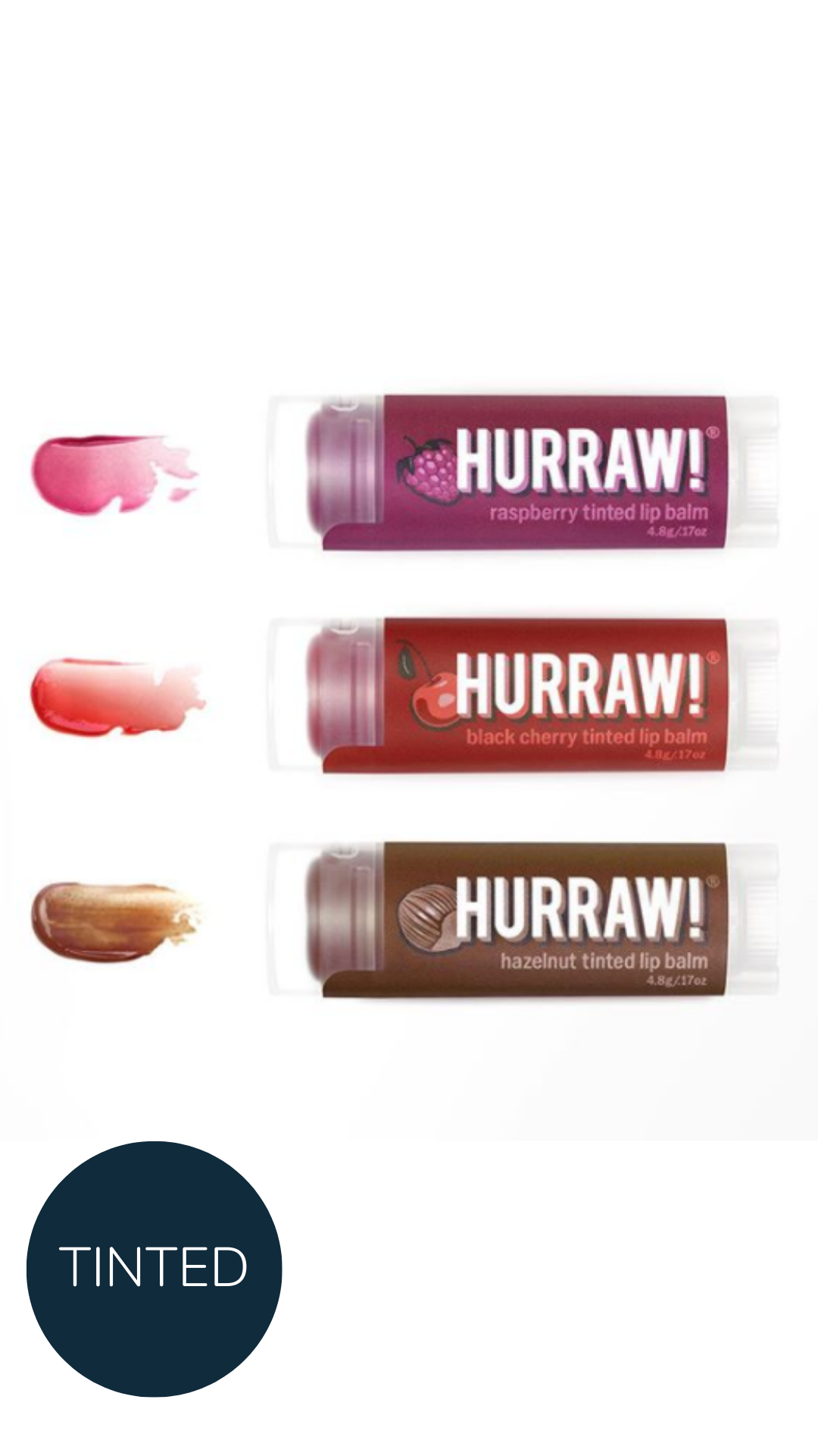 Hurraw tinted lip balm