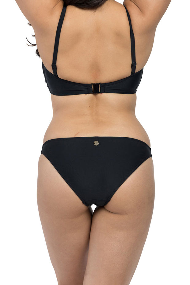 Black Hipster Brief Bikini Bottoms