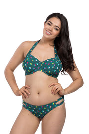 Spot Forest Cut Out Brief Bikini Bottoms