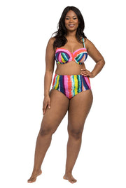Rainbow Stripe Balconette