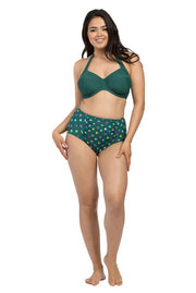 Spot Forest High Waisted Brief Bikini Bottoms