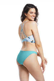 Teal green blue hipster cheeky bikini bottoms