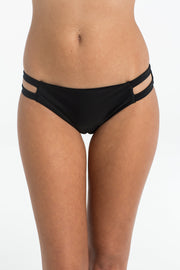 Black Cut Out Brief Bikini Bottoms