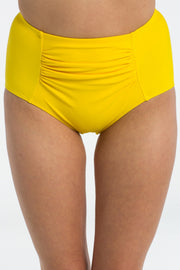 Sunshine Yellow High Waisted Brief Bikini Bottoms