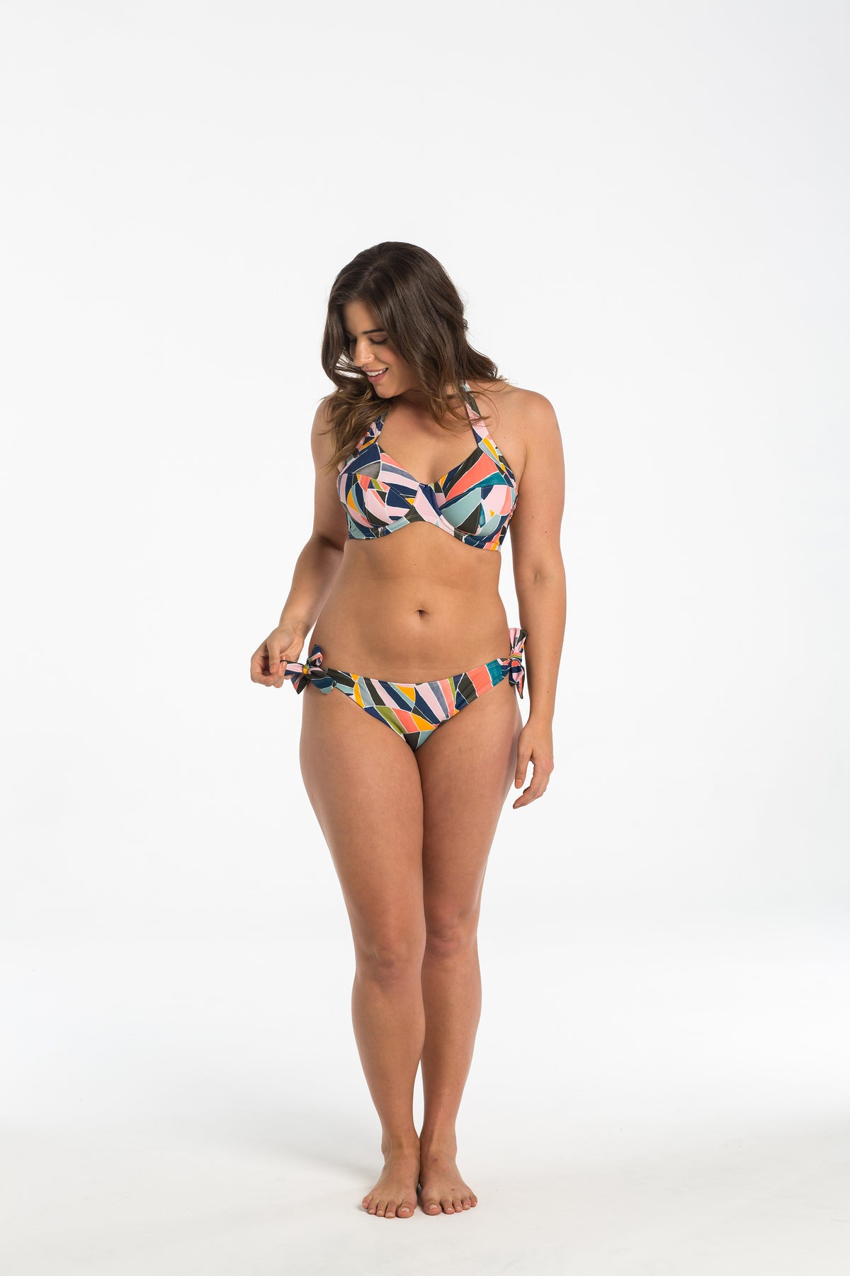 Sunset Shell Hipster Tie Bikini Bottoms