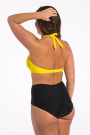 Black High Waisted Brief Bikini Bottoms