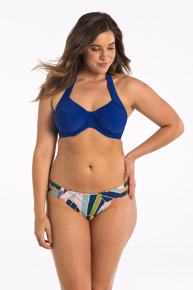 Sunset Shell Cut Out Brief Bikini Bottoms