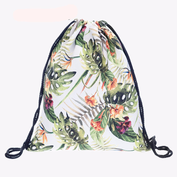 INTO THE TROPICS Drawstring Travel Bag
