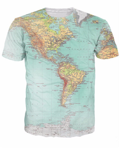 URBAN WORLD MAP Mens Tee