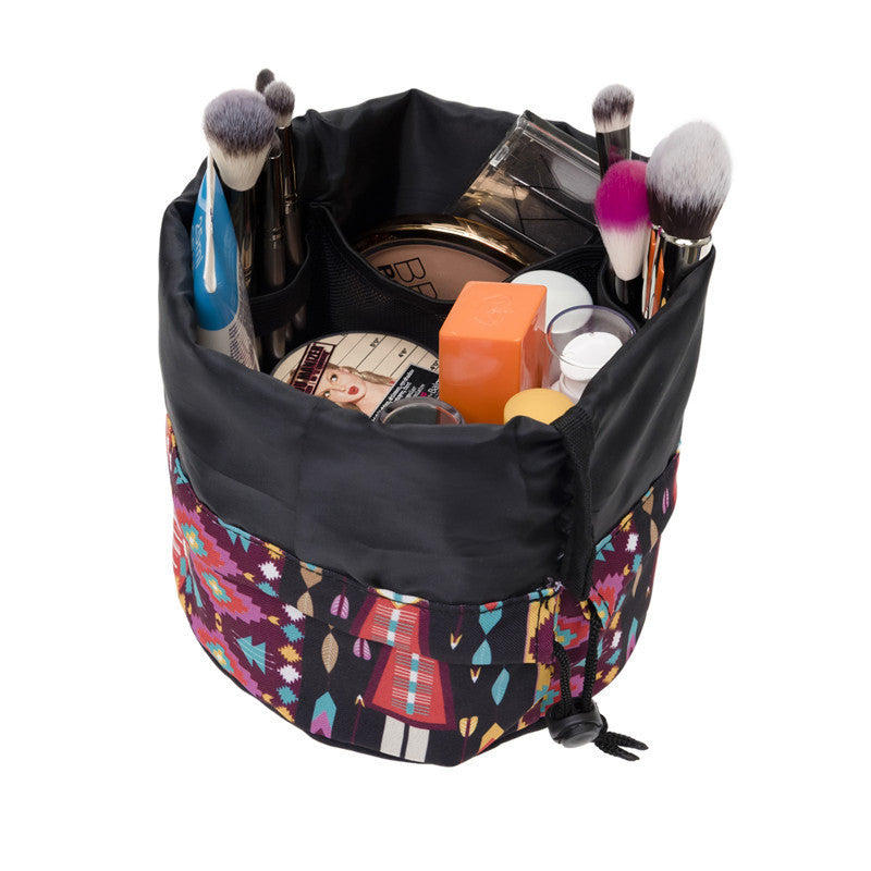 ENCHANTER Barrel Travel Cosmetic Bag