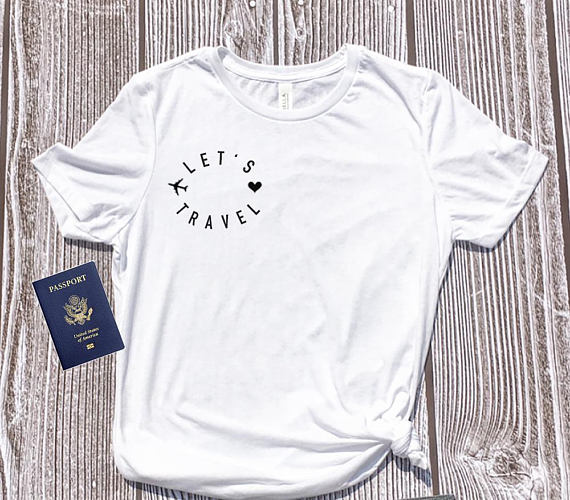 LET'S TRAVEL Womens Tee