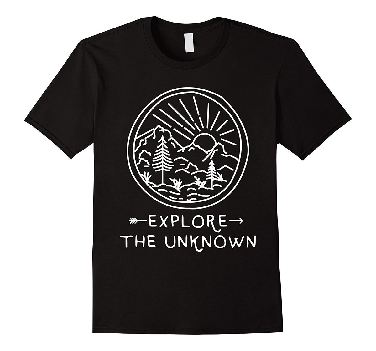 EXPLORE THE UNKNOWN Mens Tee