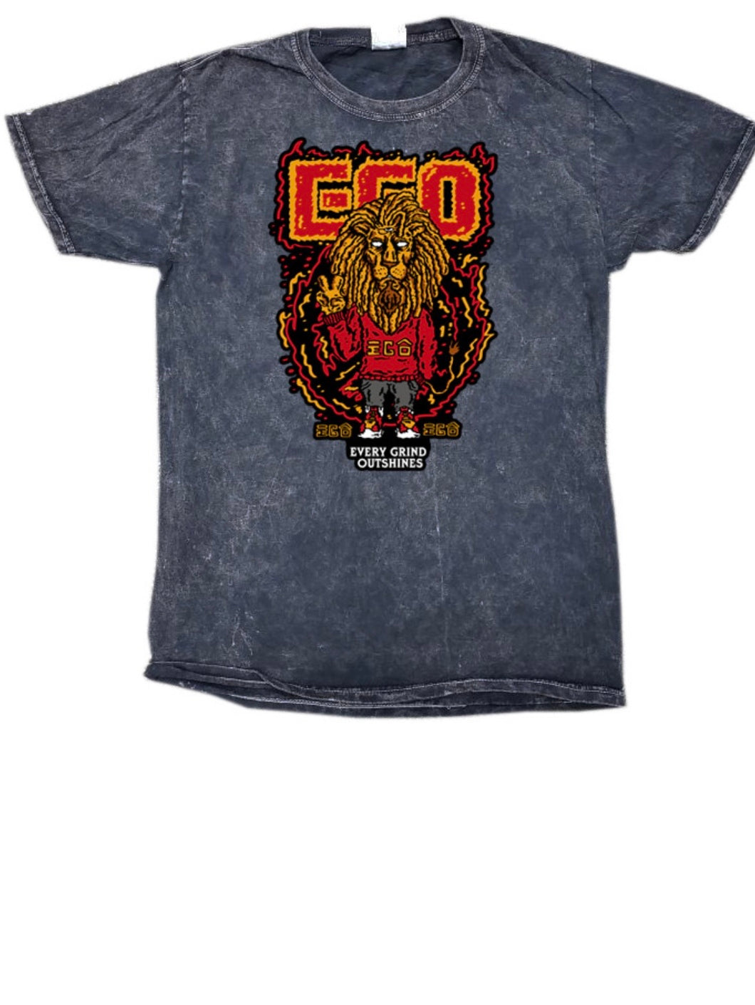Black EGO Acid Wash Shirt