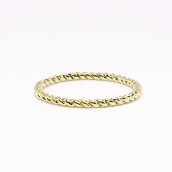 Classic Twist Ring, Yellow Gold