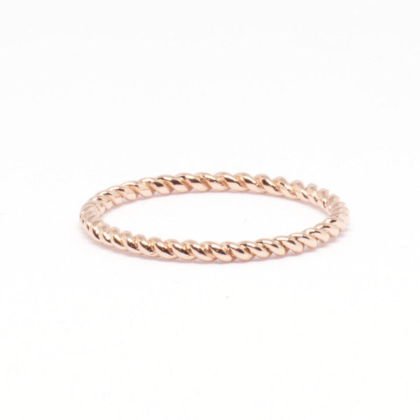 Classic Twist Ring, Rose Gold