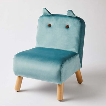 Velvet Kids Chair - Teal