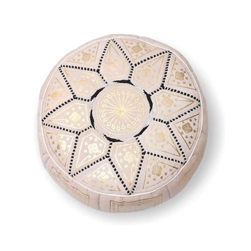 Small Moroccan Star Ottoman - Cream