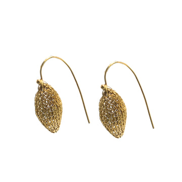Milena Zu Pointed Pod Earrings - Gold