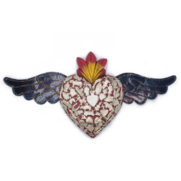 Milagros Large Winged Heart - Red