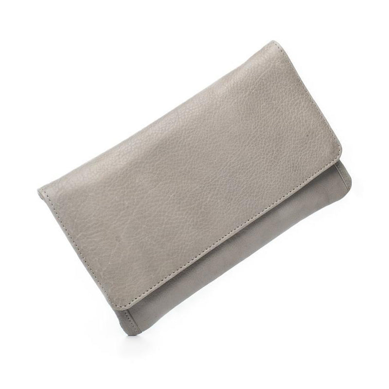Sirena Leather Purse - Light Grey