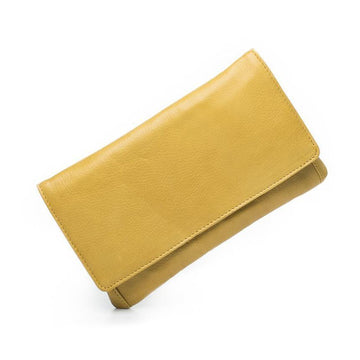 Sirena Leather Purse - Yellow
