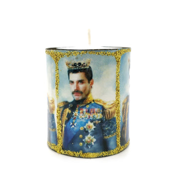 Mexican Freddie Mercury Tin Candle
