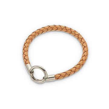 Palas Plaited Ring Clasp Bracelet - Tan