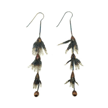 Milena Zu Petal Drop Earrings - Copper