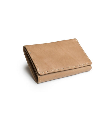 Leif Wallet in Natural leather closed