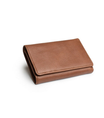 Leif Wallet in Light Brown leather closed