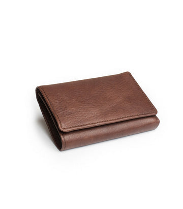 Leif Wallet in Brown leather closed